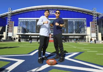 Oscar Valdez and Teofimo Lopez in Texas to promote fights Feb.2