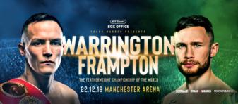Warrington and Frampton close out the year in IBF, feathweight, UK title fight