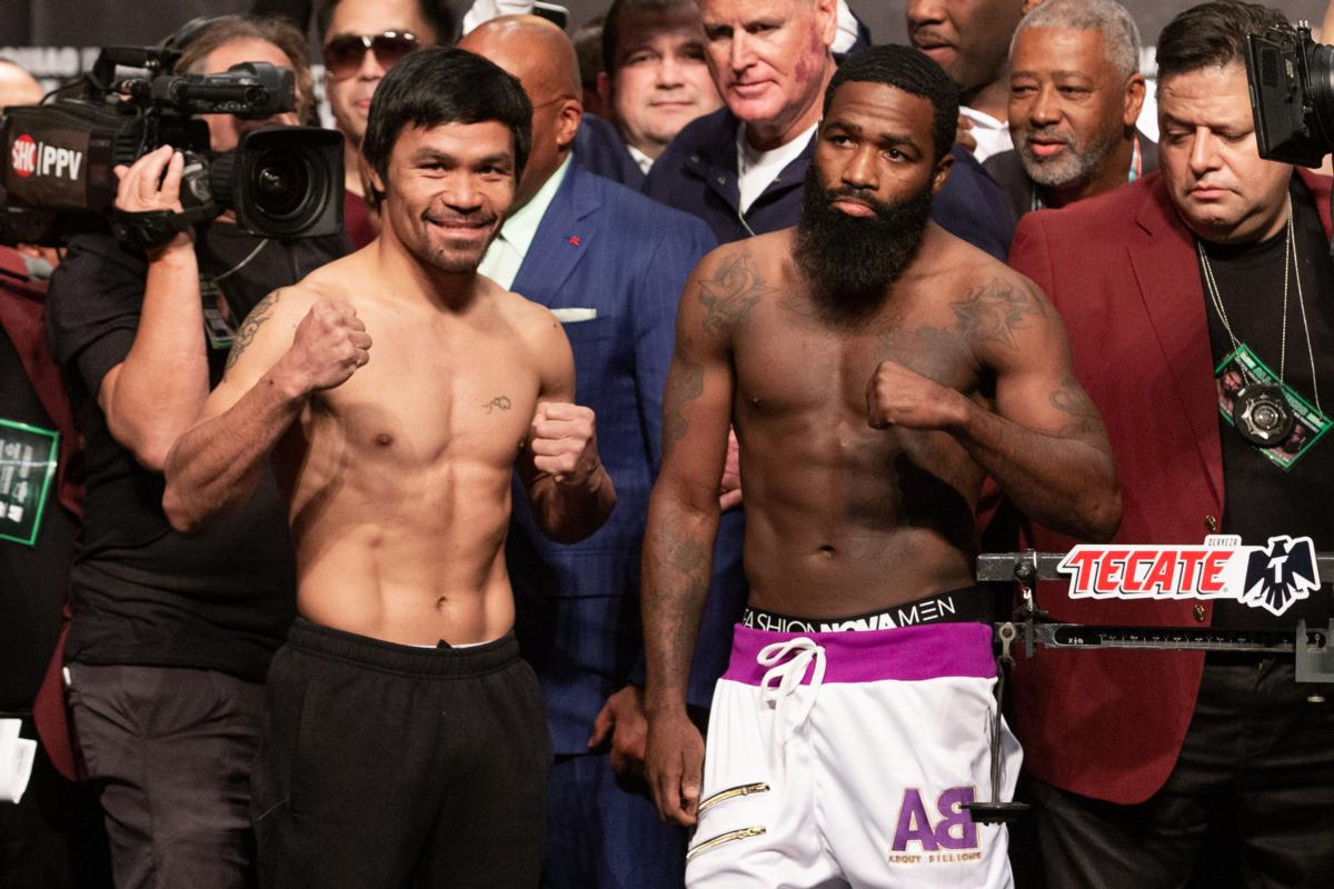 Pacquiao And Broner Weigh In