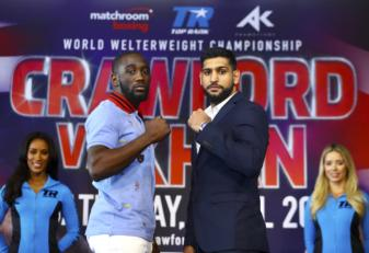 Terence Crawford and Amir Khan face off in the Big Apple