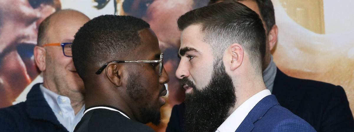 Tevin Farmer and Jono Carroll go face to face