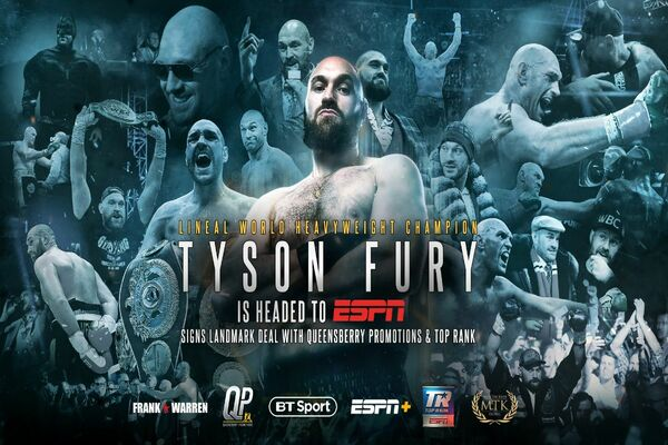 Heavyweight king Tyson Fury signs co-promotional deal with Top Rank, ESPN
