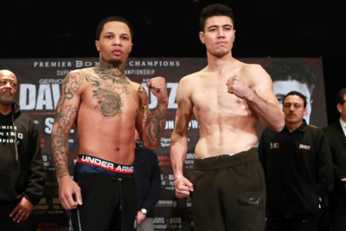 Gervonta Davis And Hugo Ruiz Weigh In