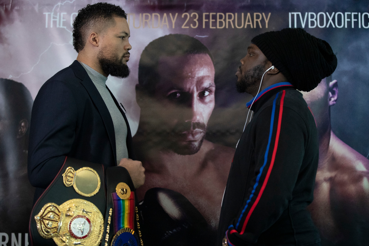 Bermane Stiverne and Joe Joyce separated at press conference