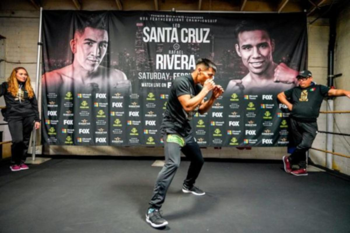 Leo Santa Cruz And Rafael Rivera Make Weight