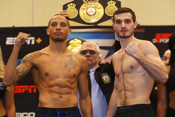 Weight-in results: Rob Brant vs. Khasan Baysangurov, Joshua Greer vs, Giovanni Escaner, Mikaela Mayer vs. Yareli Larios