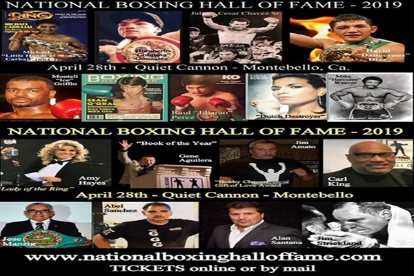 The 2019 National Boxing Hall of Fame inductees to be celebrated April 28th
