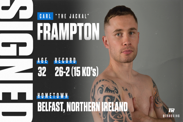 Former two-time world champion Carl Frampton signs with Top Rank
