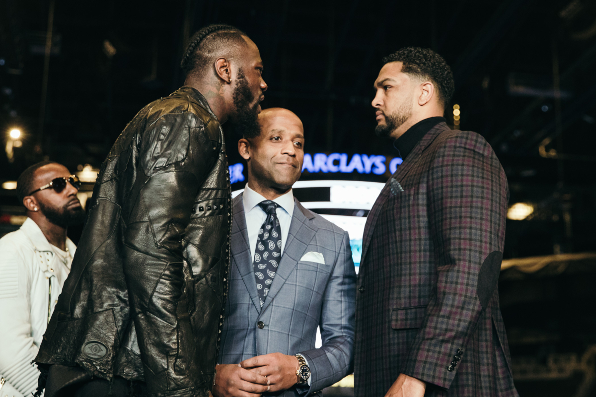Deontay Wilder And Dominic Breazeale Come Face To Face In Brooklyn