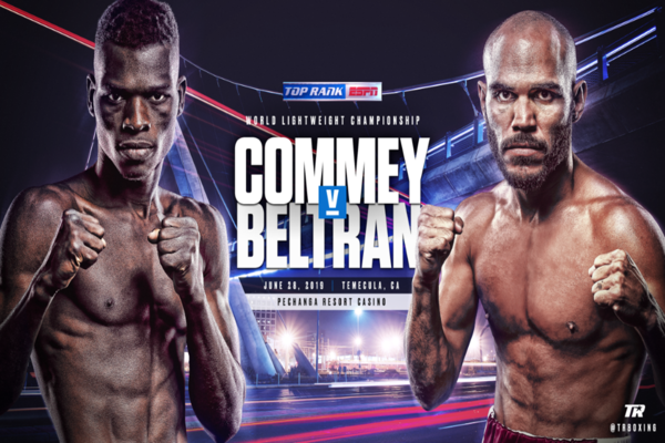Richard Commey makes first defense of title June 28 against Ray Beltran