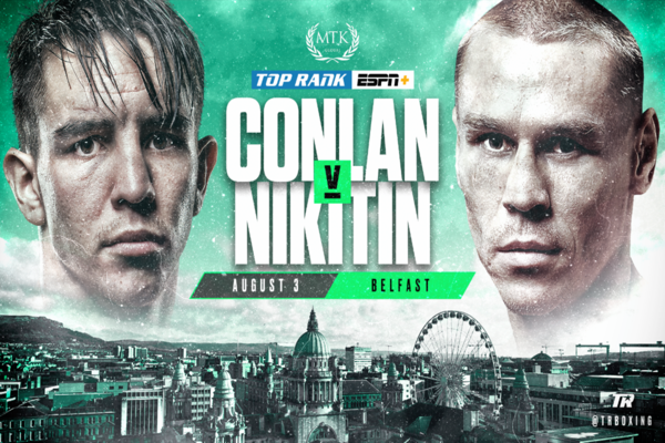 Michael Conlon seeking revenge against Vladimir Nikitin in Belfast