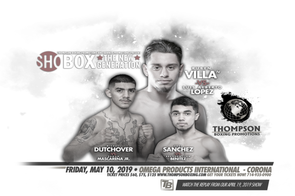 Rising prospect Ruben Villa fights Luis Alberto Lopez May 10 in Corona, CA