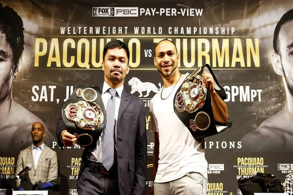 Manny Pacquiao and Keith Thurman talk big fight July 20, also Caleb Plant and Mike Lee
