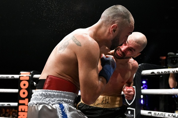 Artem Lobov gets the bettter of Paulie Malignaggi in Bare Knuckle Fighting Championship