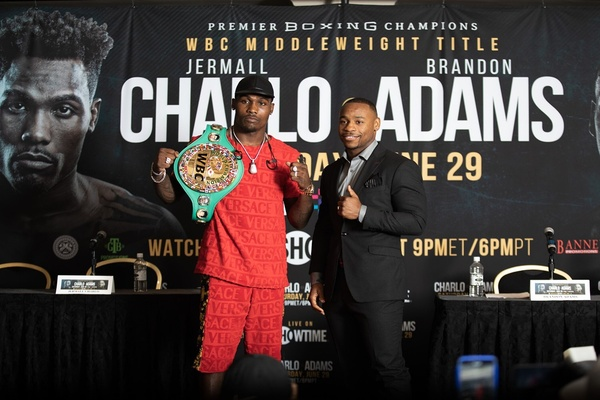 Jermall Charlo and Brandon Adams talk about June 29 fight in Houston