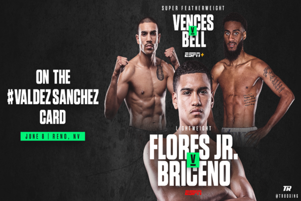Gabriel Flores Jr. vs. Salvador Bricerno added to Oscar Valdez title defense