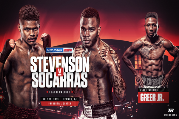 Shakur Stevenson heads home to face Hairon Socarras July 13