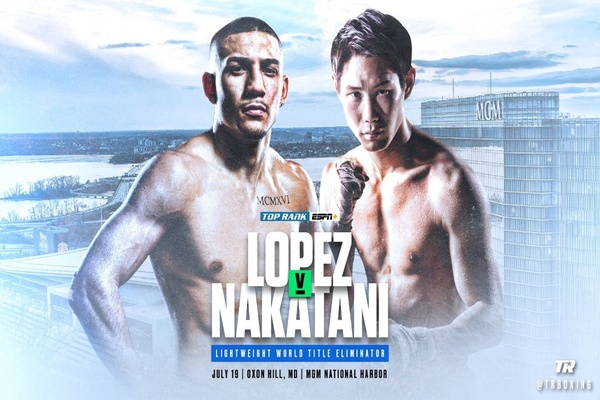 Teofimo Lopez fights Masayoshi Nakatani in title eliminator July 19