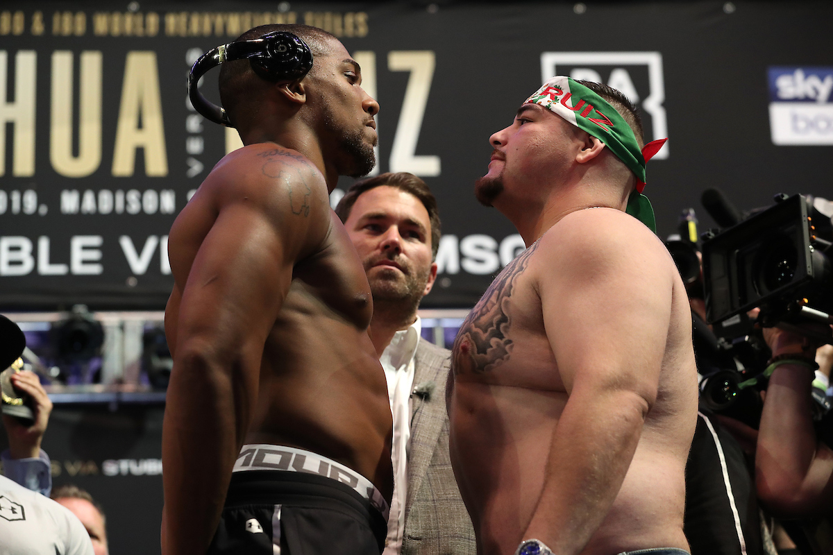 Anthony Joshua vs Andy Ruiz Jr by Ed Mulholland/Matchroom Boxing