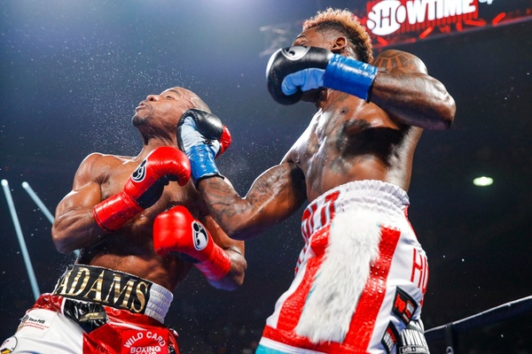 Jermall Charlo masters a determined Brandon Adams