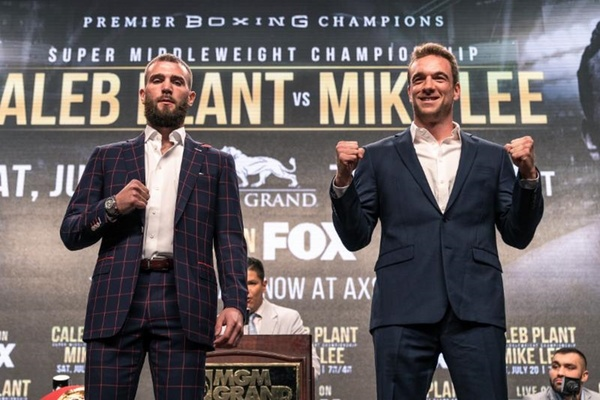 Tense final press conference as Caleb Plant and Mike Lee talk about their fight this Saturday night