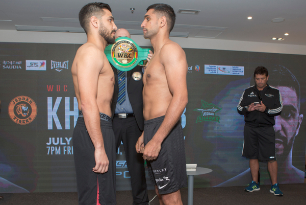 Amir Khan vs Billy Dib weights & weigh-in photos: Hughie Fury outweighed by over 40lbs
