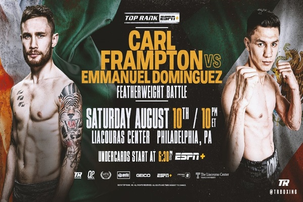 Carl Frampton back in the ring this Saturday in the City of Brotherly Love