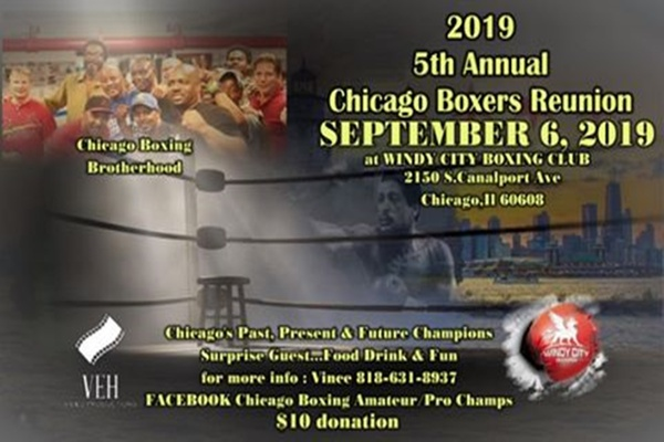 Fifth annual Chicago boxers reunion September 6