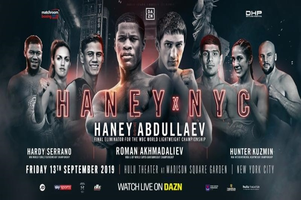 Devin Haney fights Zaur Abdullaev in title eliminator