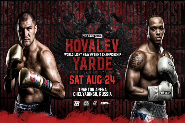 Sergey Kovalev vs. Anthony Yarde lands on ESPN +