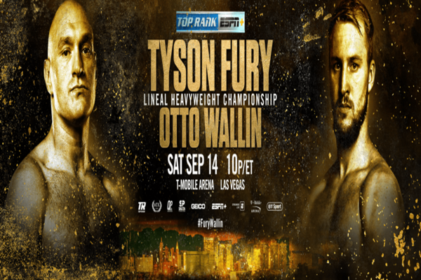 Tyson Fury returns to the Las Vegas strip Sept.14