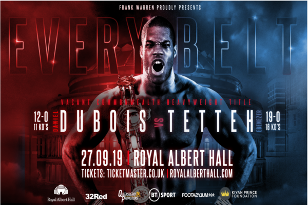 Undefeated heavyweights Daniel Dubois and Ebenezer Tetteh fights this Friday