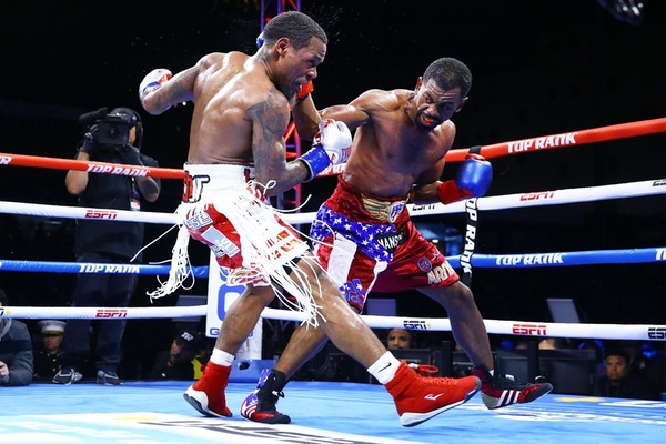 WBO junior lightweight champion Jamel Herring defeats Lamont Roach in Fresno