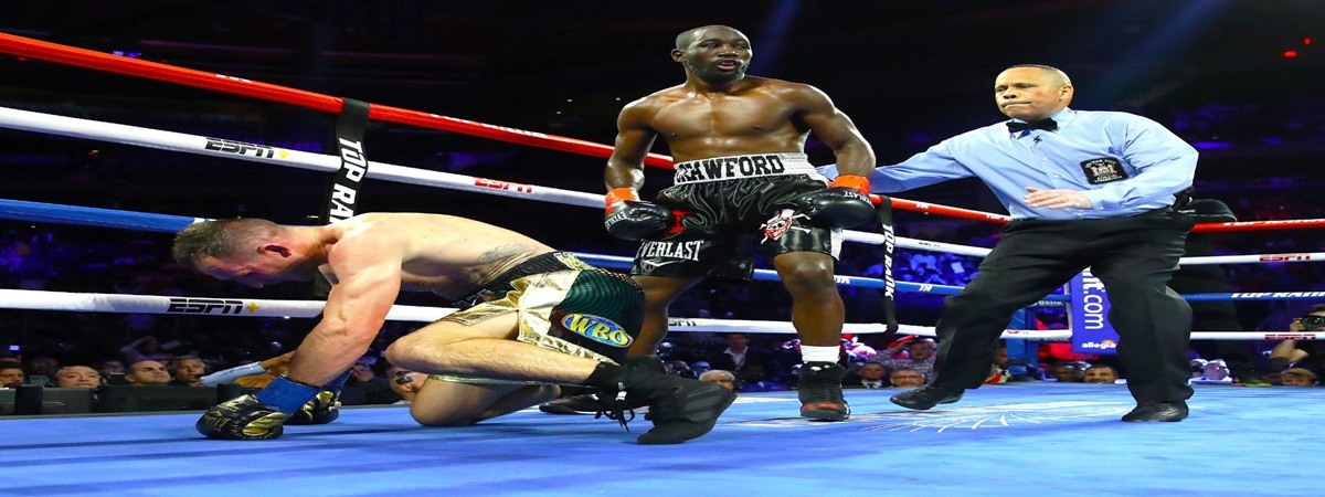 Terence Crawford retains welterweight belt with gritty knockout victory