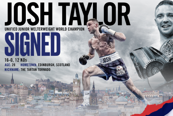 Josh Taylor inks deal with Top Rank