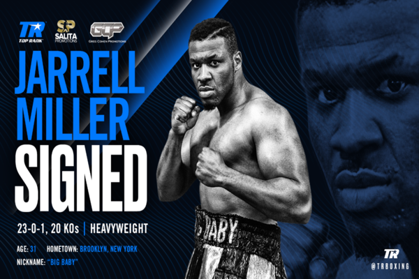 Jarrell Miller signs to fight under Top Rank banner