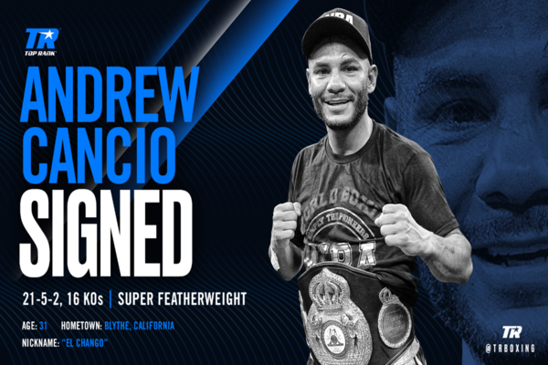 Former champion Andrew Cancio inks deal with Top Rank