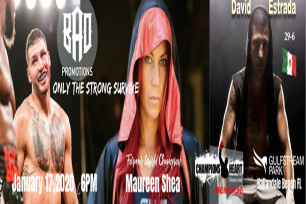 This Friday night: Maureen Shea fights Martina Horgasz, David Estrada returns to the ring