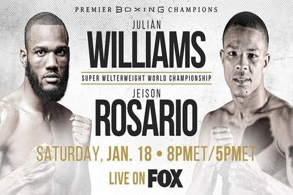 Julian Williams home in Philly to face Jeison Rosario
