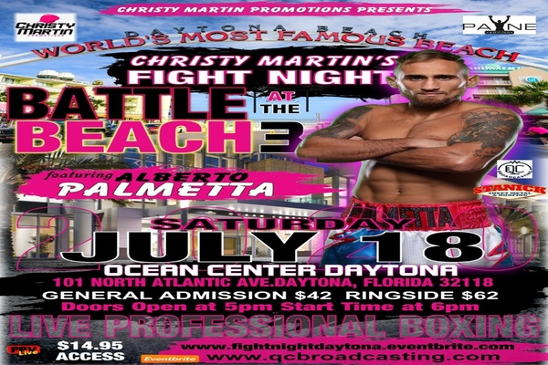 Christy Martin Promotions presents: Battle at the beach July 18