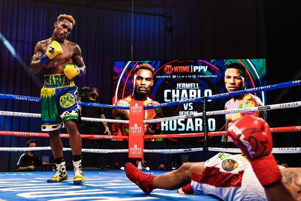 Jermell Charlo knocks Jeison Rosario down three times, wins by knockout