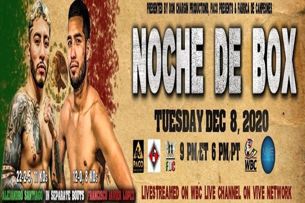 Don Chargin Productions, Paco Presents and Fabrica De Campeones to stream live 'Noche De Box' on WBC streaming channel December 8