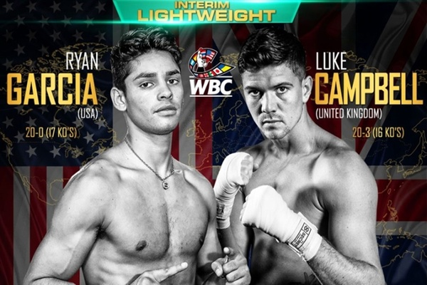 Ryan Garcia fights Luke Campbell January 2