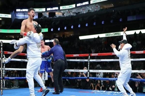 Floored in round two, Ryan Garcia gets up and stops Luke Campbell
