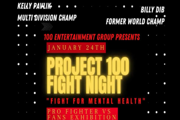 Egypt X and the 100 Entertainment Group present a 'Fight for Mental Health'
