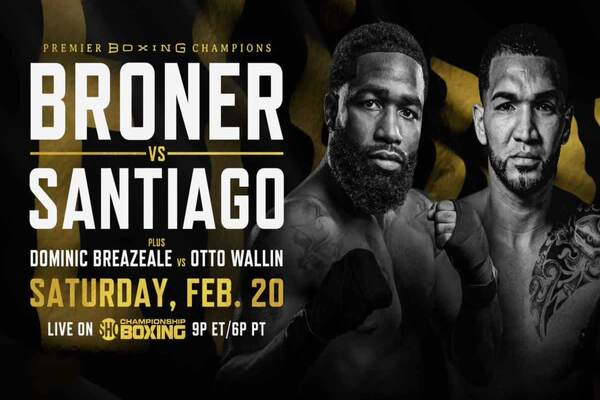 He's back: Former champion Adrien Broner fights Feb.20