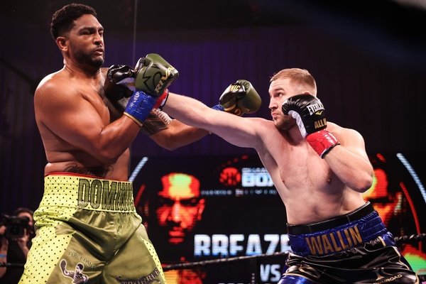Otto Wallin batters Dominic Breazeale, wins by wide decision
