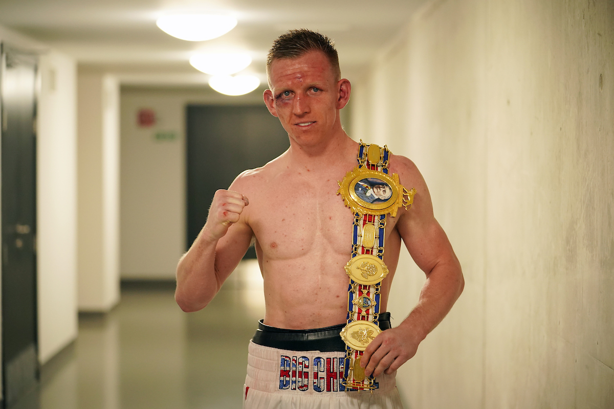 Ted Cheeseman with belt photo by Dave Thompson Matchroom Boxing