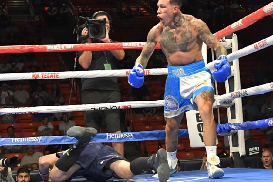 Max Boxing - News - Given little chance to win, Gabriel Rosado scores one  punch knockout over 'Bully' Bektemir Melikuziev